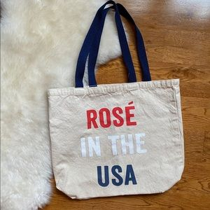 Old Navy Rosé in the USA 4th of July Canvas Bag